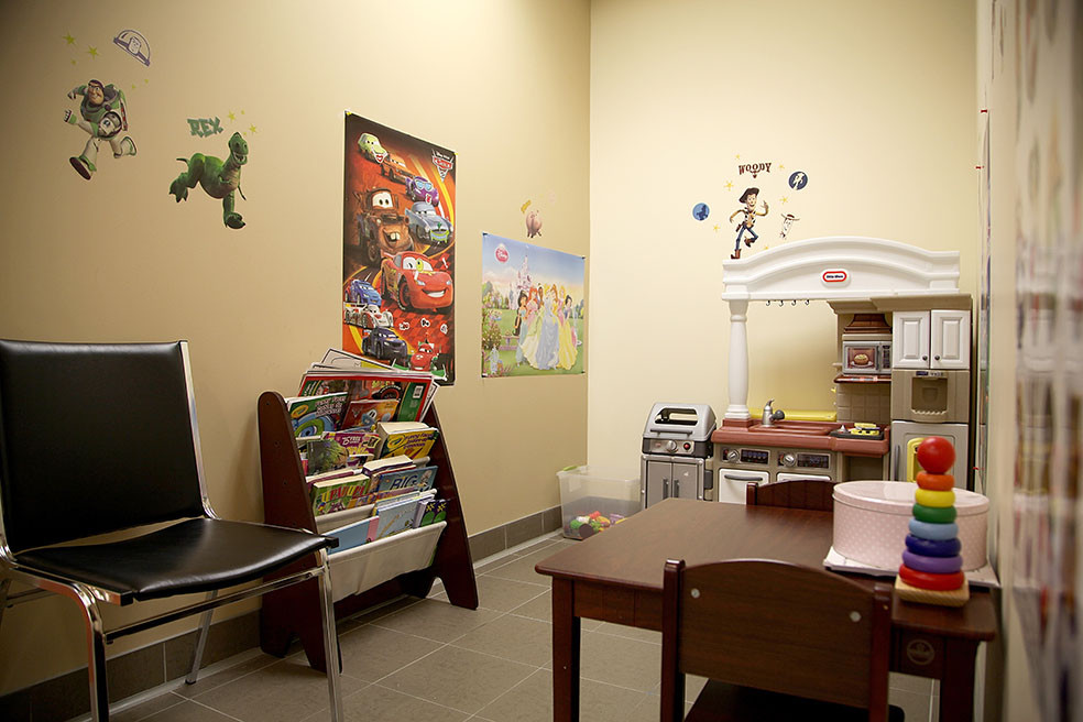 Coffee Dermatology child's play room
